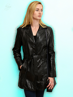 Higgs Leathers SOLD!  Tali (ladies black leather Trench coats) SOLD!